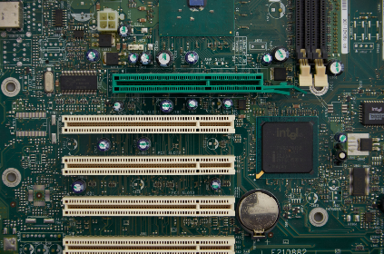 Photo of motherboard
