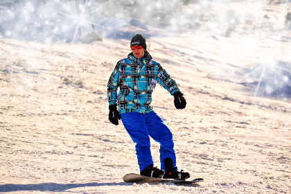 Photo of snowboarder