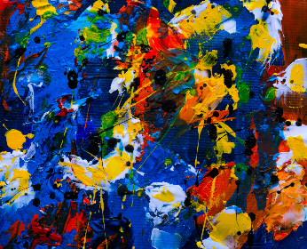 splatter abstract