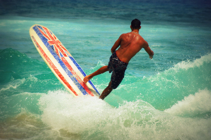 Photo of surfer