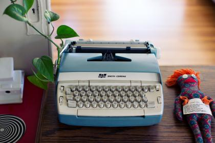 typewriter writing