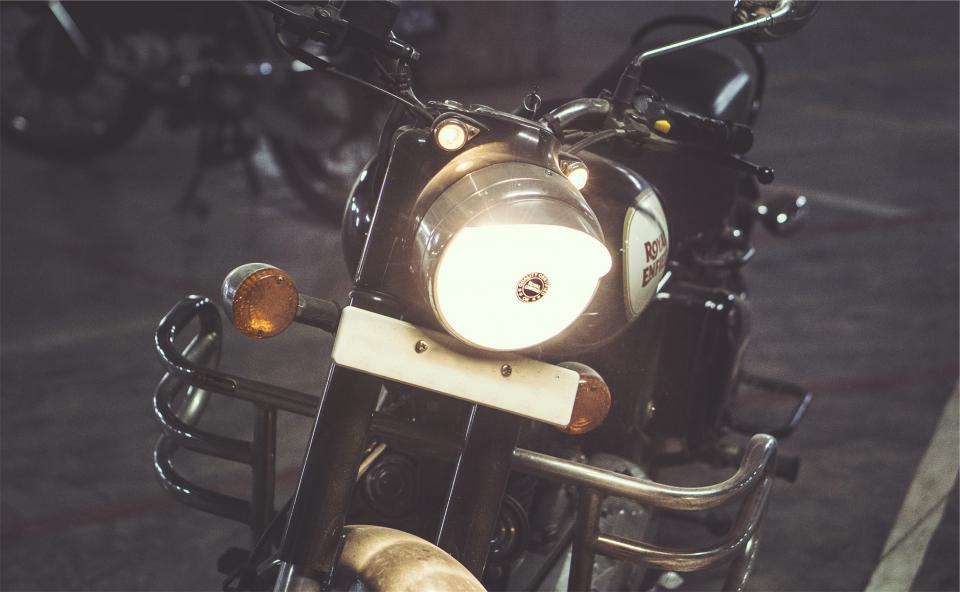 motorcycle motorbike headlight night