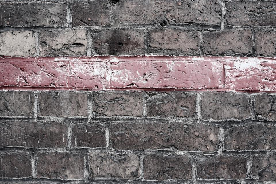bricks wall red line pattern