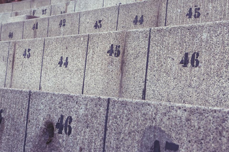 concrete seats numbers