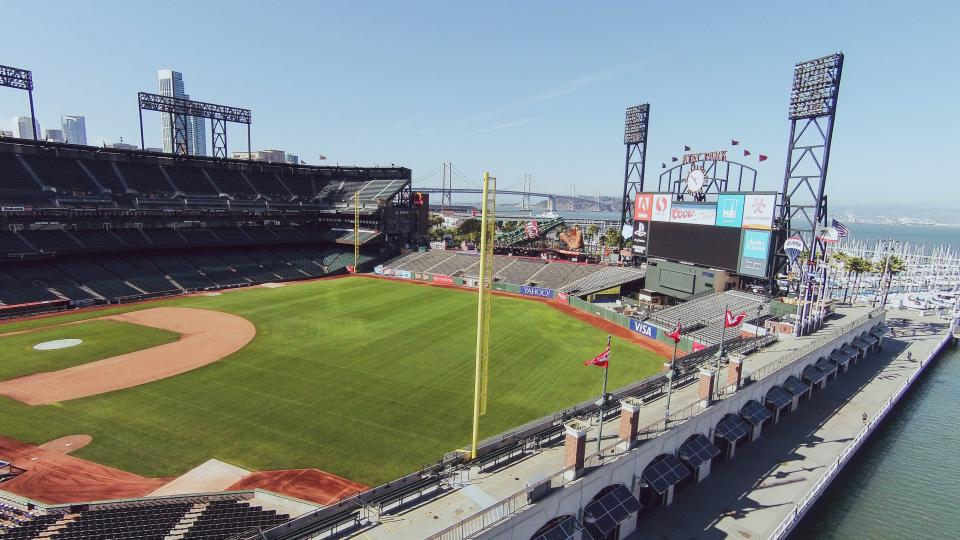 AT&T Park baseball stadium sports field diamond sunny San Francisco