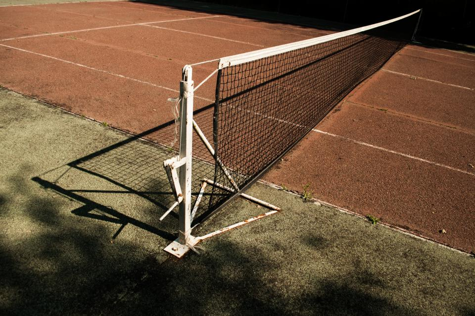 tennis court net clay sports