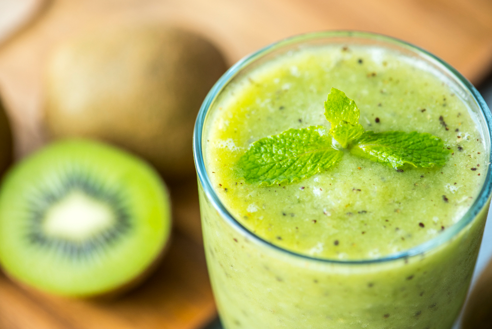 beverage blended closeup drink drinking food photography frappe fresh freshness fruit glass green healthcare healthy herb homemade ingredient juice kiwi macro mint natural nutrient nutrients nutritious organic raw recip