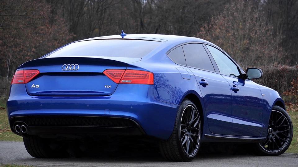 car vehicle blue audi luxury sedan
