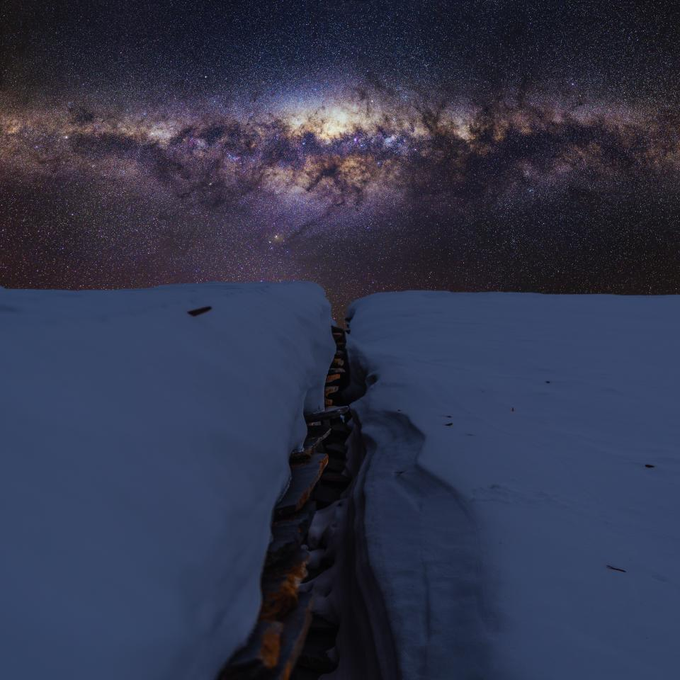 snow winter white cold weather ice nature stars astrophotography stargazing dark night sky