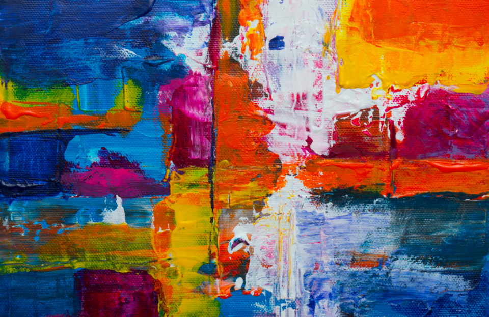 colorful abstract painting art canvas brushstroke background artist creative design wallpaper palette multicolor texture acrylic grunge