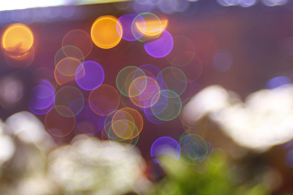 blur bokeh lights