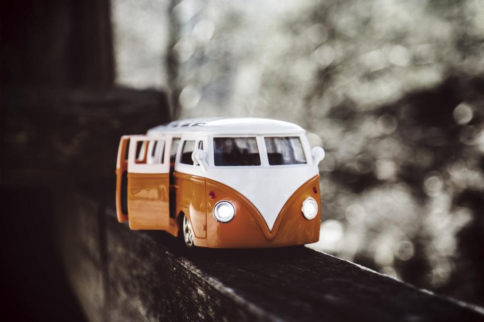 crafts hobby miniature cars vans still items things toys model scale wall bokeh