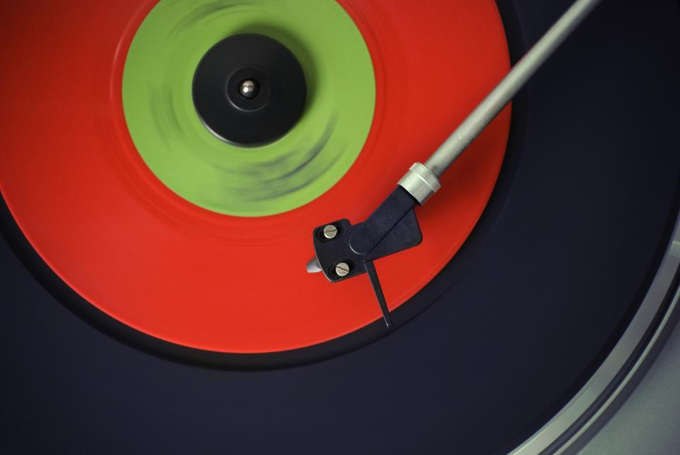 turntable record vinyl lp music needle