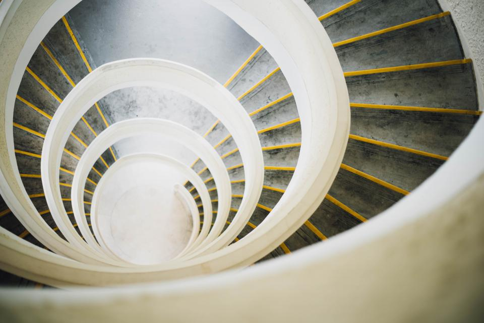 architecture building stairs spiral