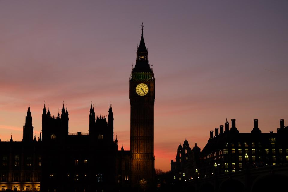 architecture building infrastructure big ben london landmark sunset cloud sky