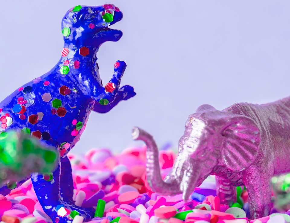 animal birthday bonbon childhood closeup colorful confection confectionery creature decoration dessert different dinosaur diverse effect element elephant entertainment figure figurine fun funky imagination mammal