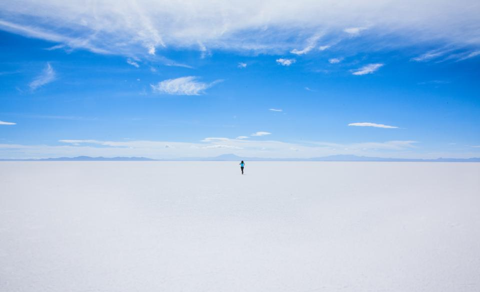 nature landscape people man alone snow winter cold weather clouds sky white travel adventure