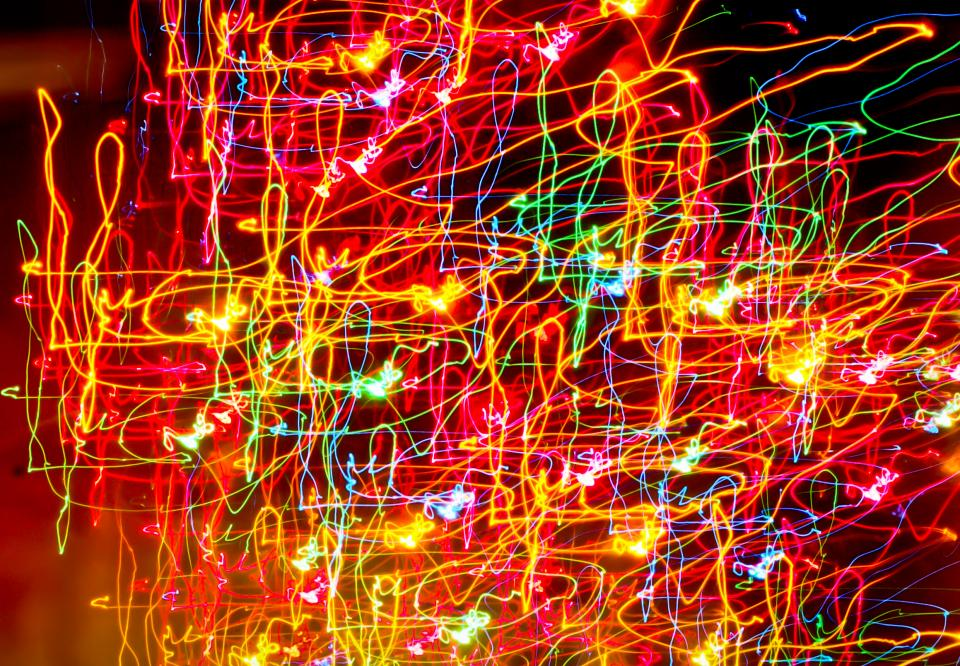 lights swirls abstract lines colors texture