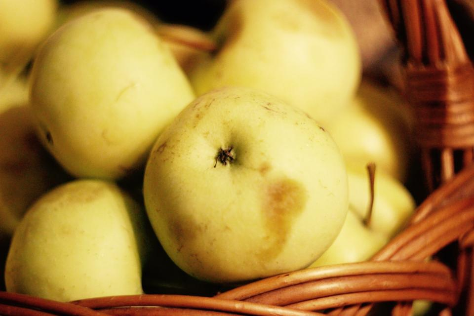 apples fruits food healthy basket