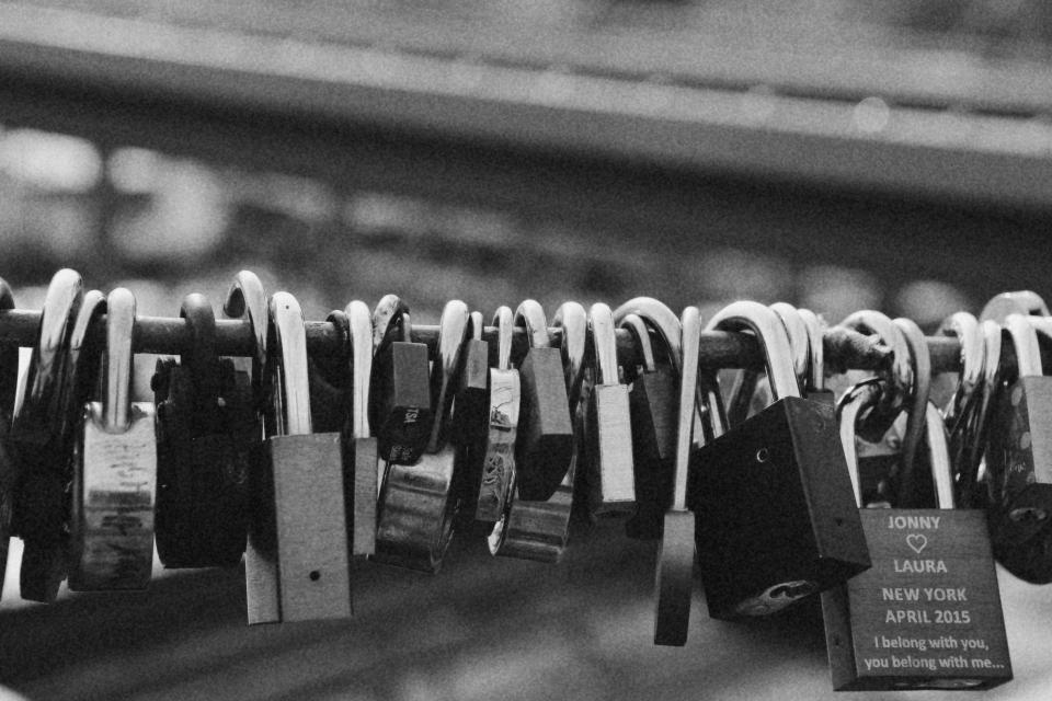padlocks love black and white