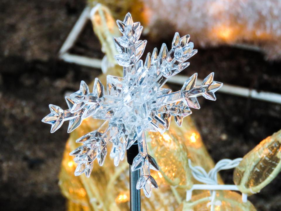 snowflake winter lights decorations glass christmas
