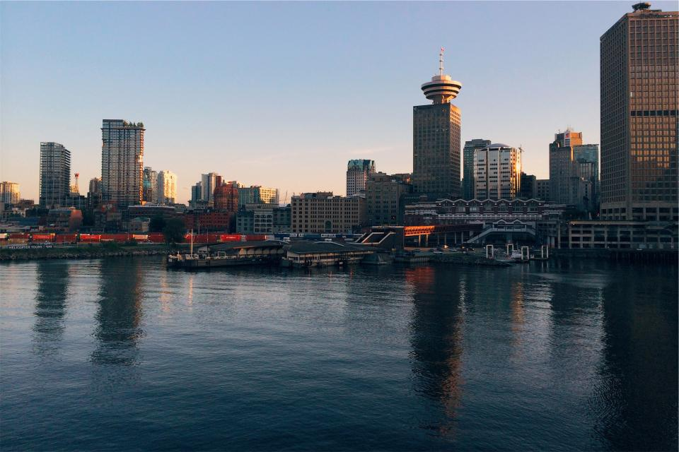 skyline buildings towers architecture high rises marina harbor harbour boats docks water city urban downtown
