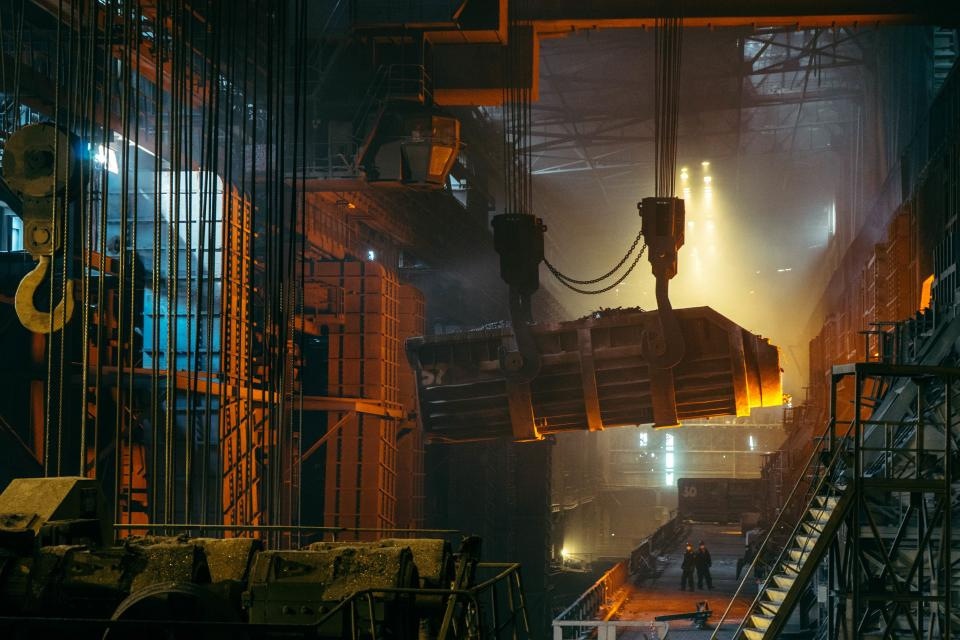 steel industry metal company heavy equipment