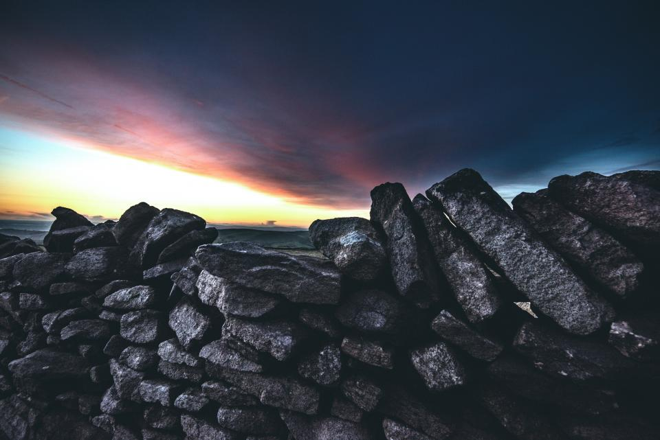 cloud sky dark sunset rocks nature outdoor