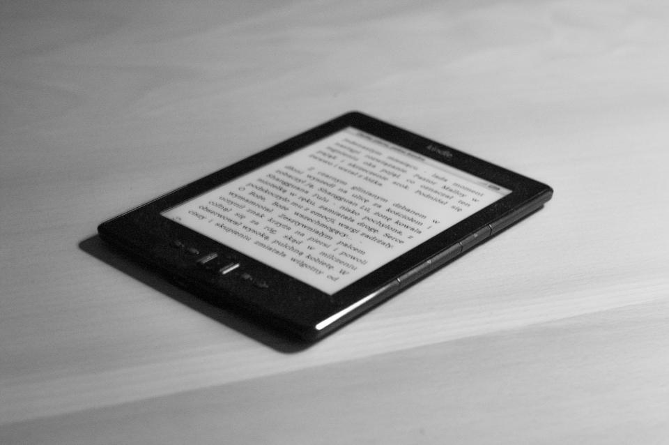 kindle book e-reader reading technology objects