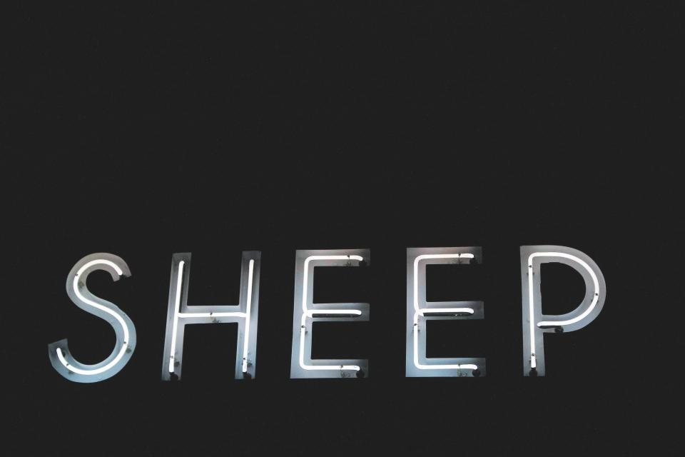 letters font sheep light dark black and white