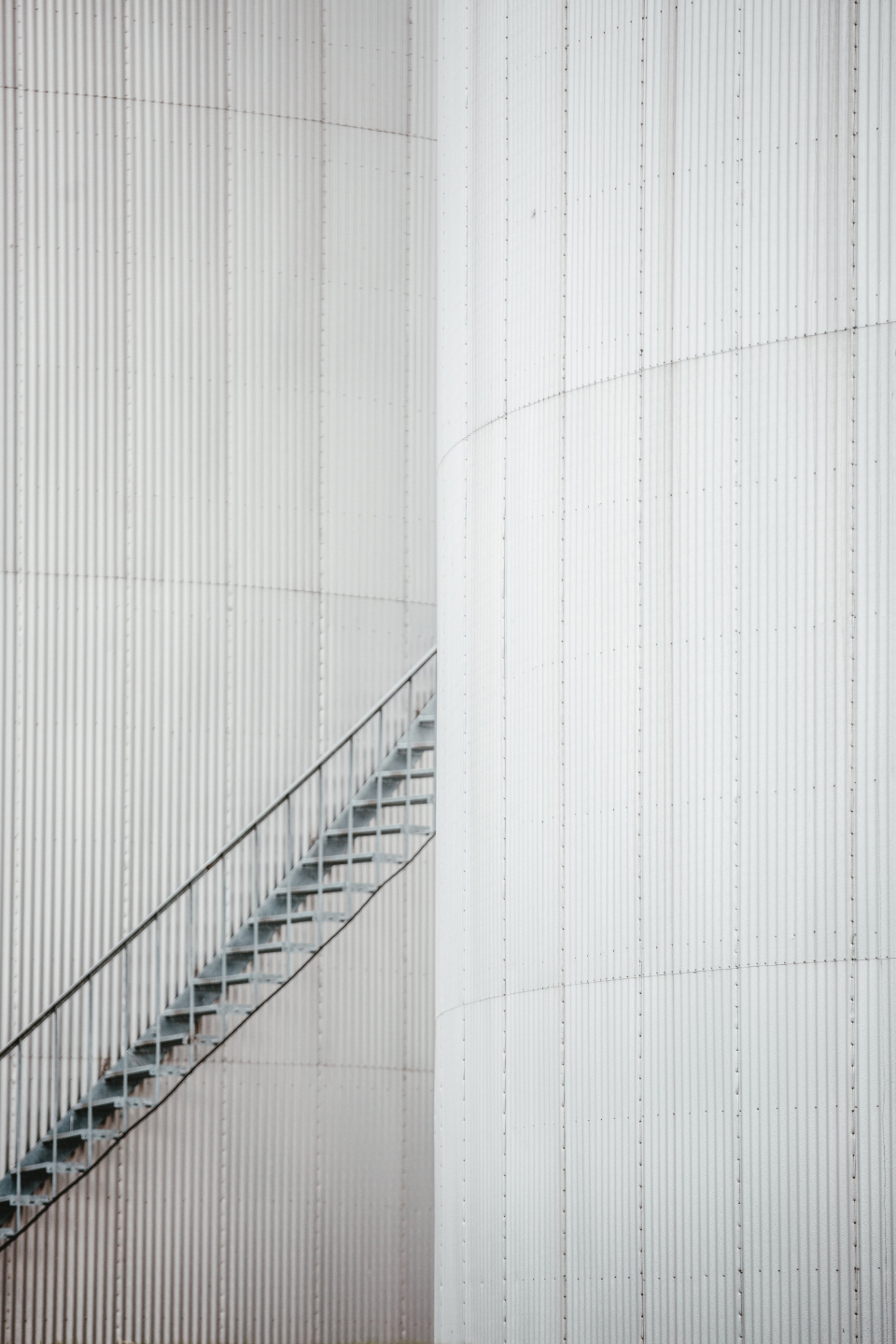 industrial tank oil stairs spiral architecture industry art white storage metal energy steel fuel abstract iron
