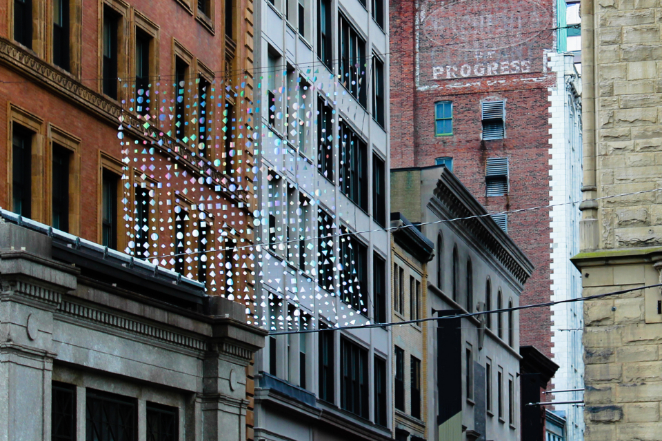 old city buildings brick stone glass windows cables urban architecture exterior weathered offices apartments tall textures