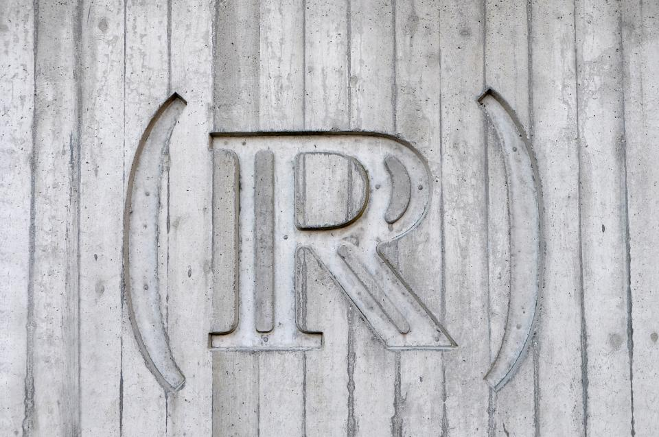 wood wall r engraving art sign letter