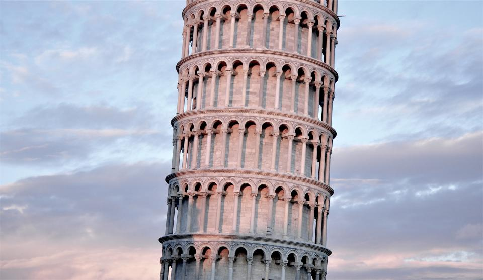 Leaning Tower of Pisa architecture Italy history sky clouds