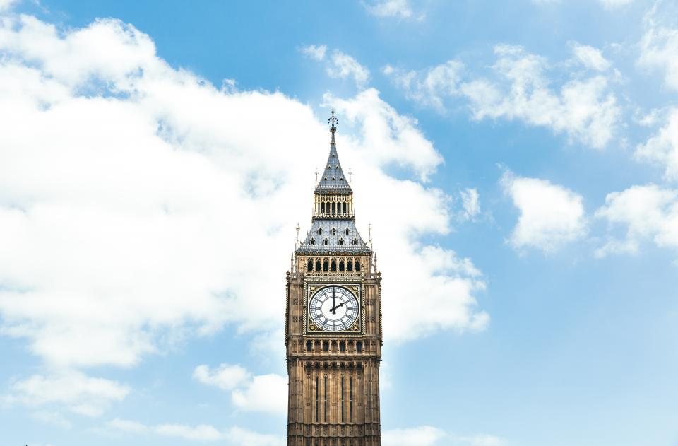 clock tower architecture big ben building structure cloud sky