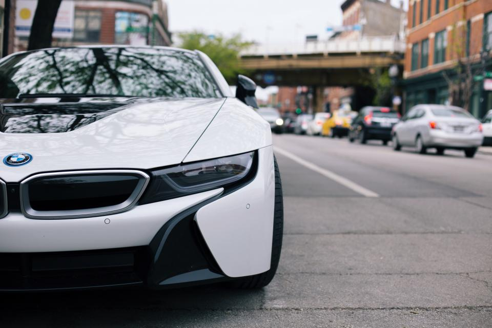BMW Car City Street Chicago i8 Traffic road automotive