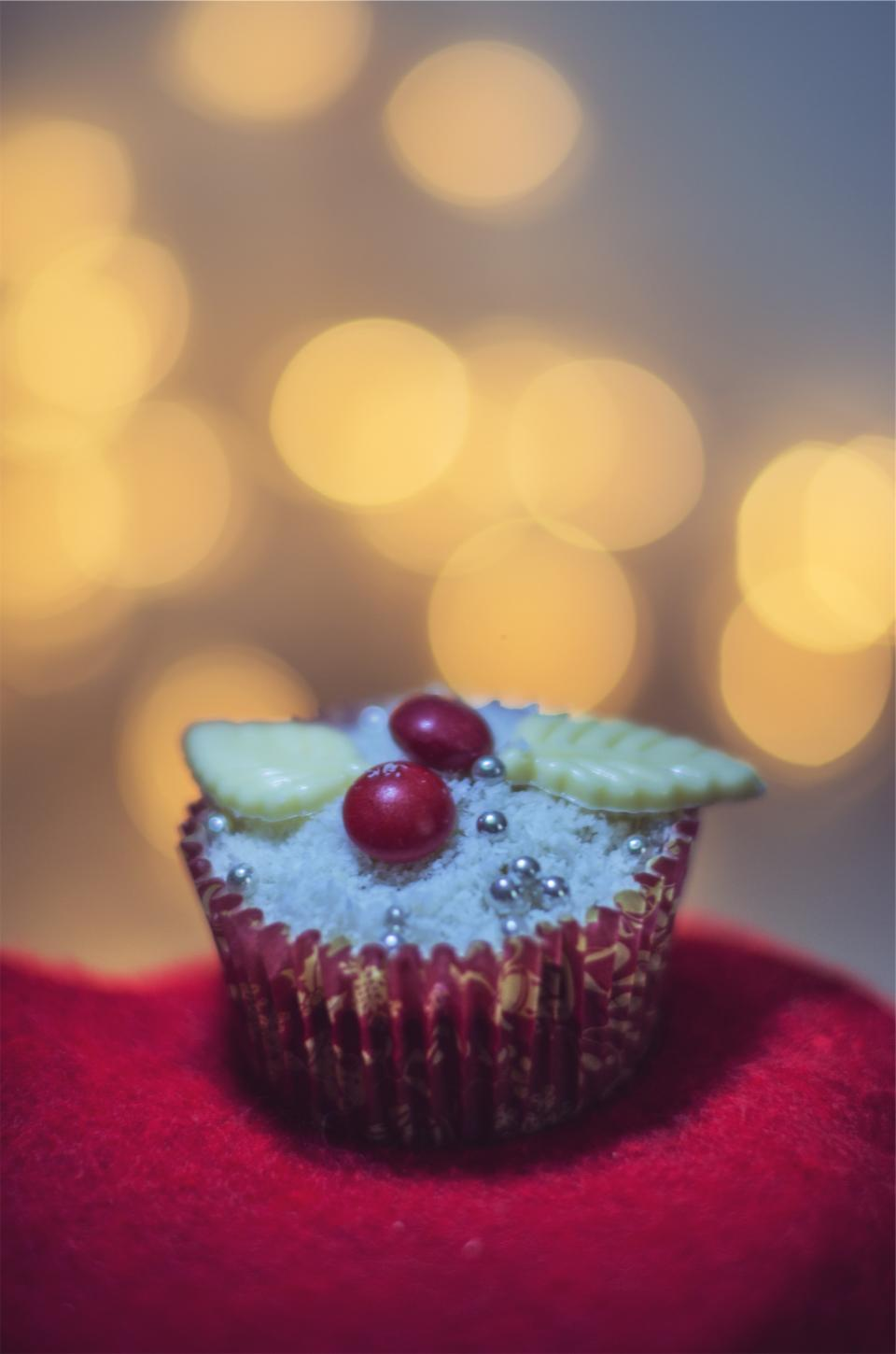 cupcake dessert icing sweets treats festive christmas