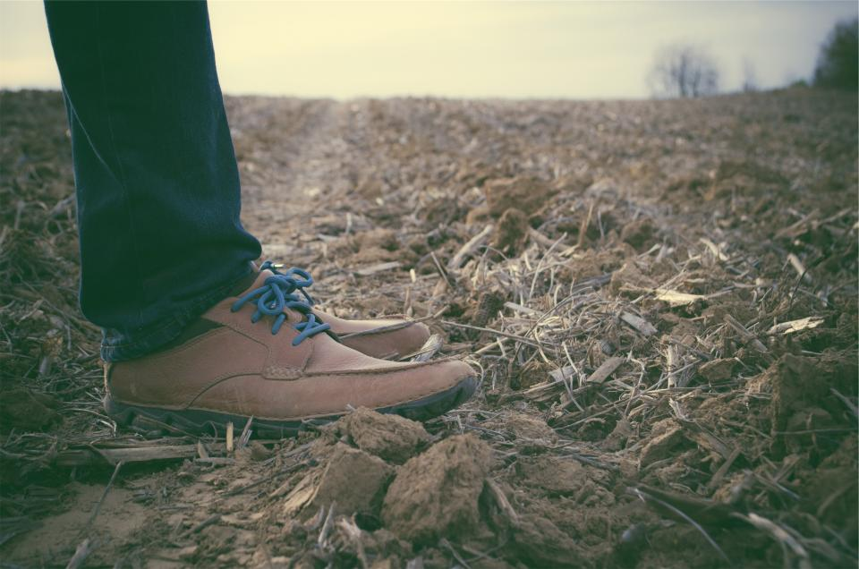 shoes laces jeans denim fashion clothes soil dirt wood chips field country rural