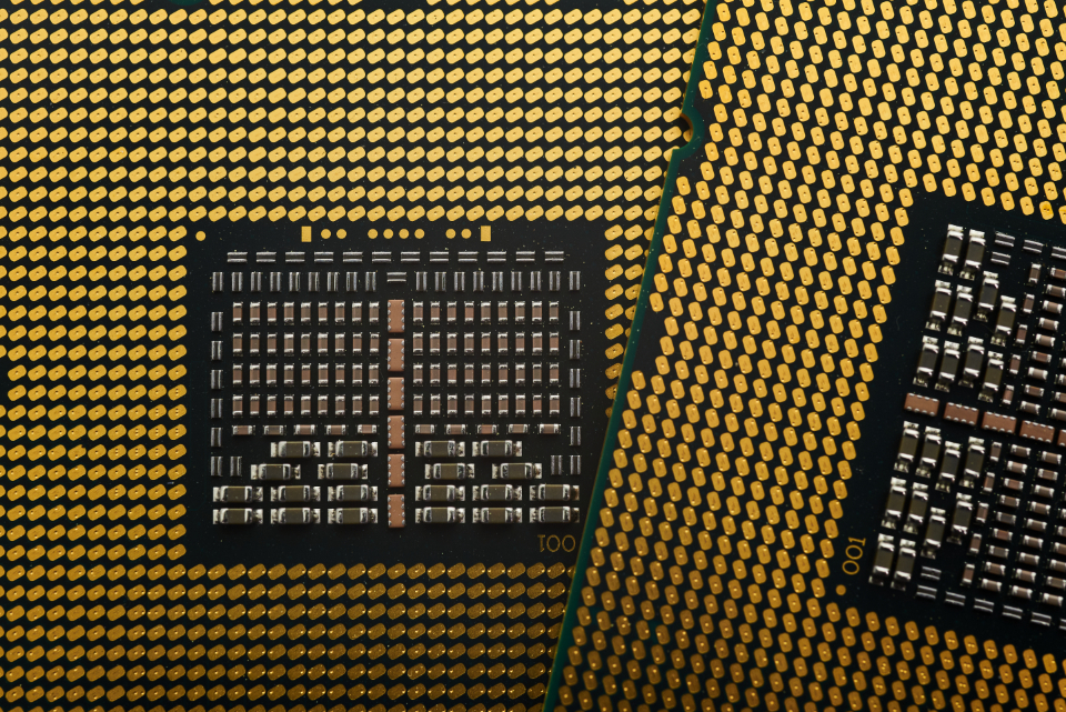 cpu processor chip computer macro technology background circuit component hardware intel tech close up background