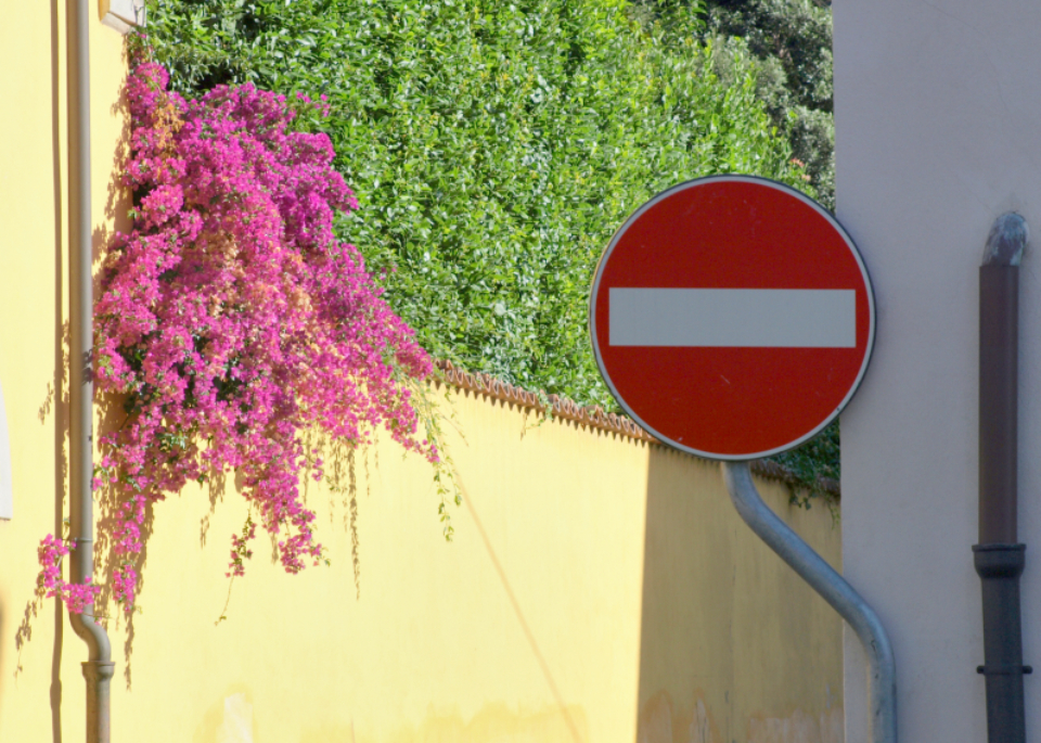 stop sign street europe road traffic symbol warning city european flowers travel