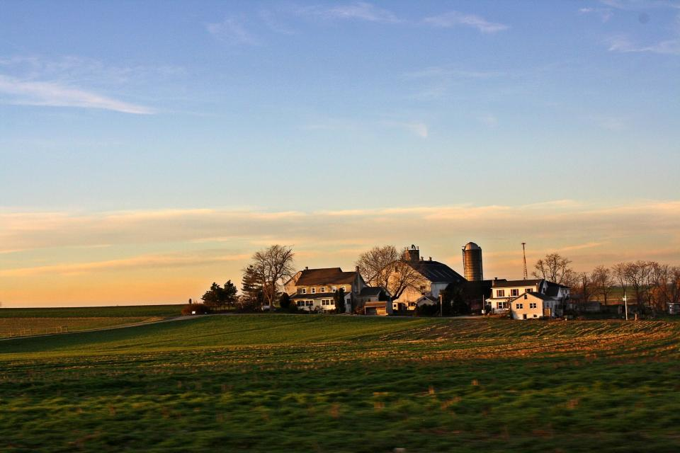 Amish Countryside Rural Farm sky grass fields