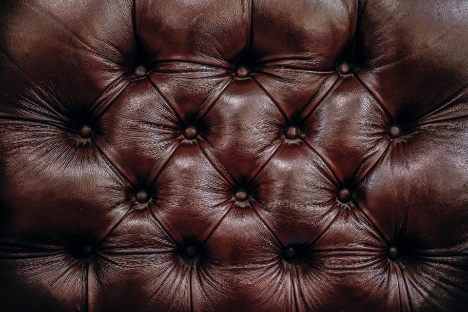 brown leather couch sofa furniture
