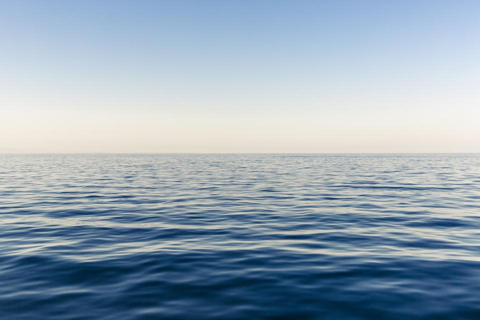ocean sea water horizon blue sky sunshine summer lake