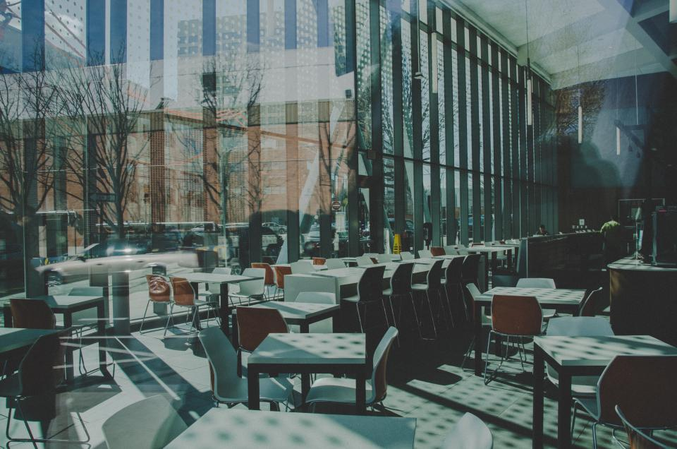architecture building infrastructure table chairs restaurant hotel glass
