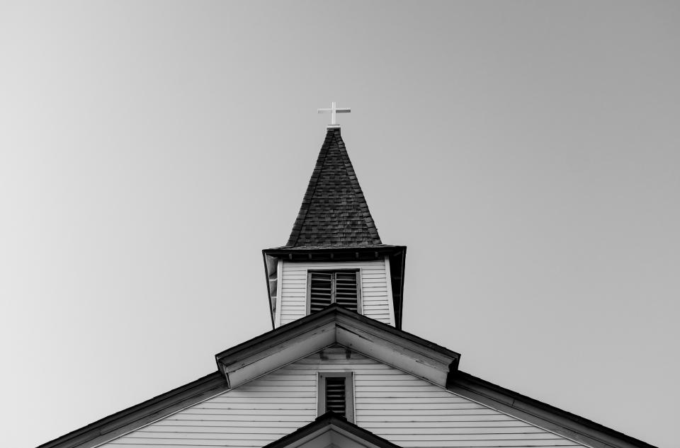 architecture building infrastructure church black and white