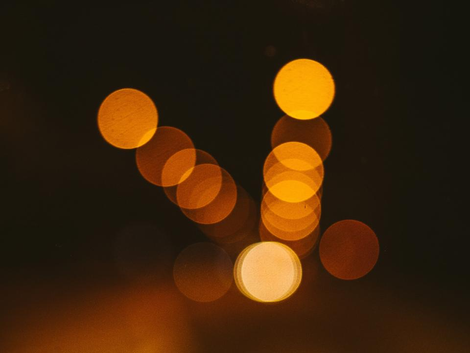 lights blurry abstract night dark evening bokeh