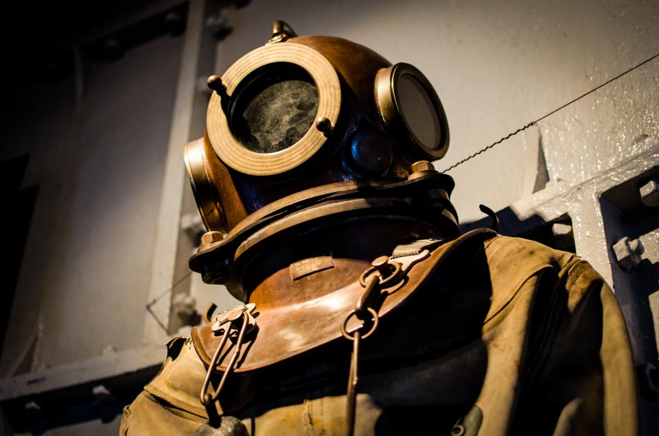 diving suit scuba diving helmet