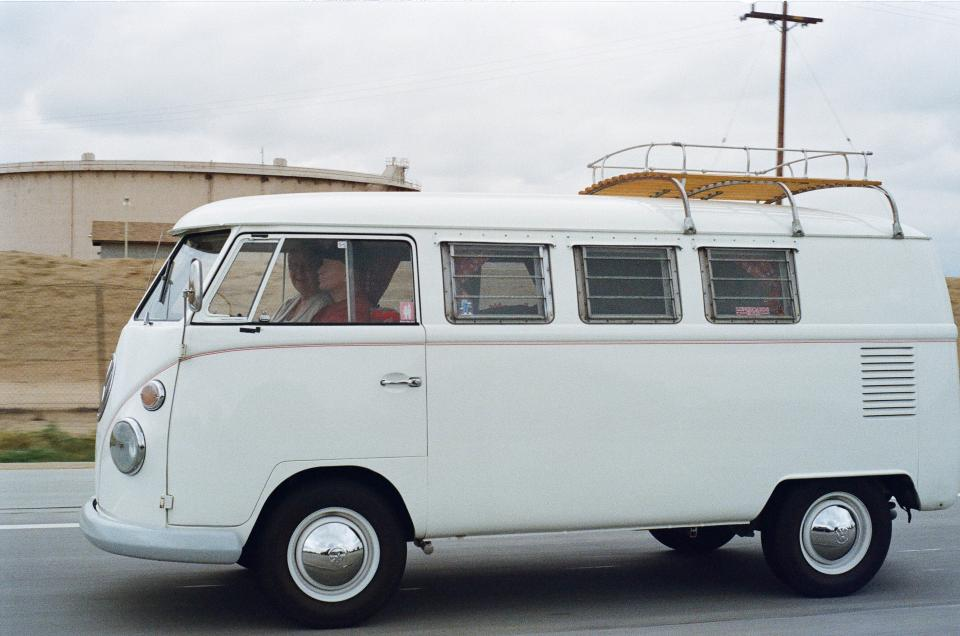 volkswagen vanagon vw van classic wheels tires windows driving road driver vintage