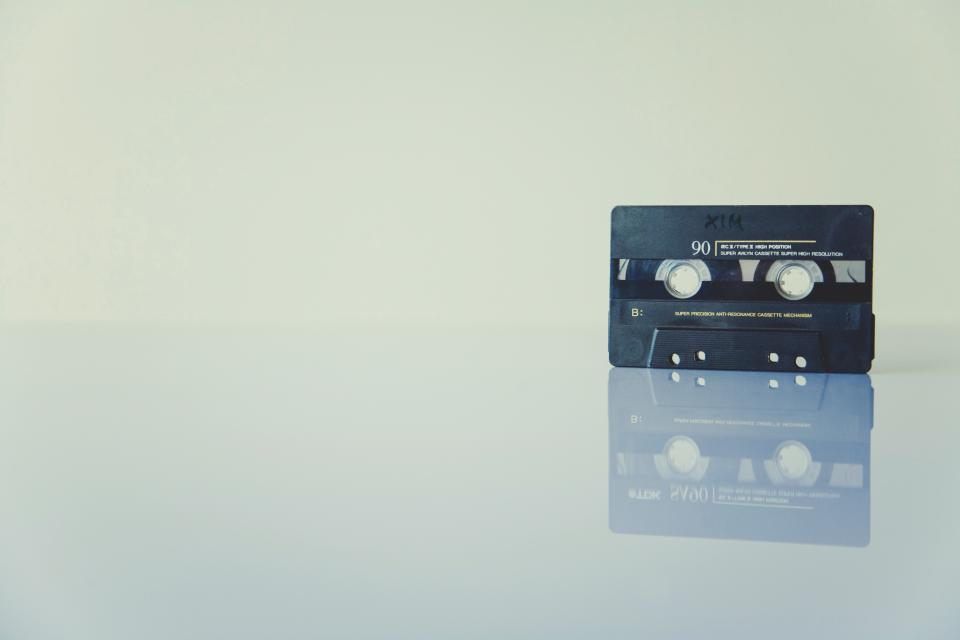 tape music record sounds cassette vintage reflection