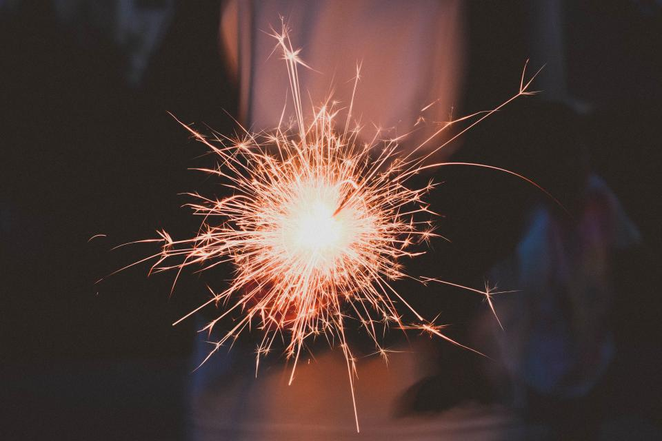 fireworks sparkler sparks fire light celebration bokeh still